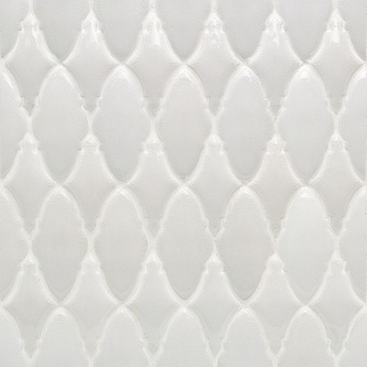 Nabi Valor Glacier White Mosaic; in White Ceramic ; for Backsplash, Wall Tile, Bathroom Wall, Shower Wall; in Style Ideas Contemporary, Cottage, Farmhouse, Transitional