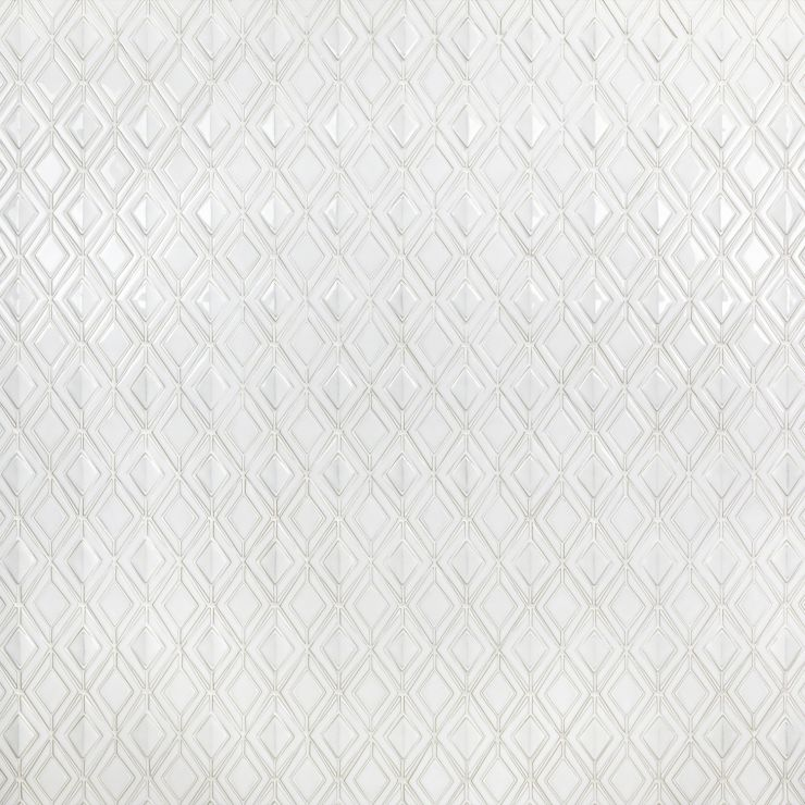 Nabi Jewel  Natural White Polished Mosaic; in White Ceramic; for Backsplash, Wall Tile, Bathroom Wall, Shower Wall; in Style Ideas Farmhouse, Modern, Transitional