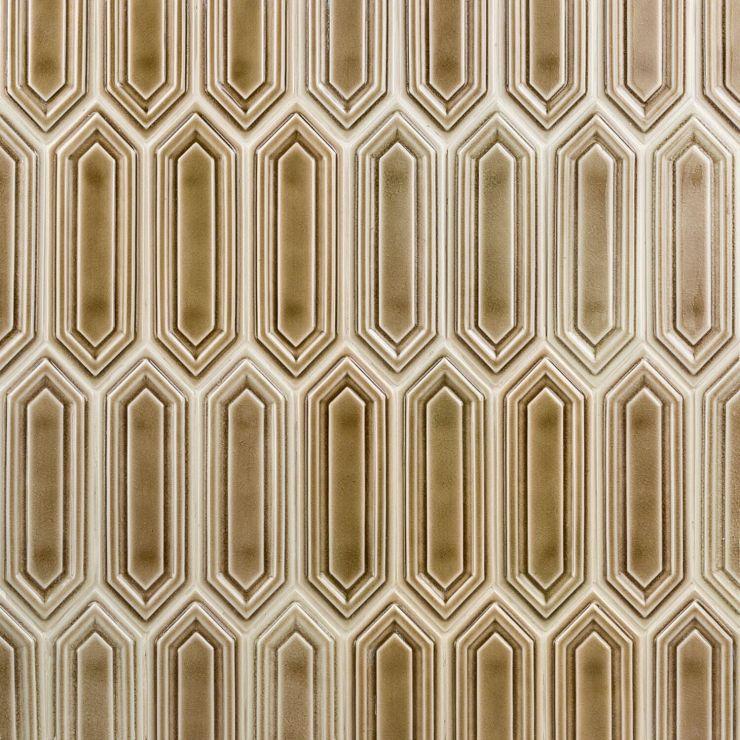 Nabi Hexagon Sea Wind 3x9 Mosaic; in Brown Ceramic ; for Backsplash, Wall Tile, Bathroom Wall, Shower Wall; in Style Ideas Classic, Cottage, Farmhouse, Mid Century
