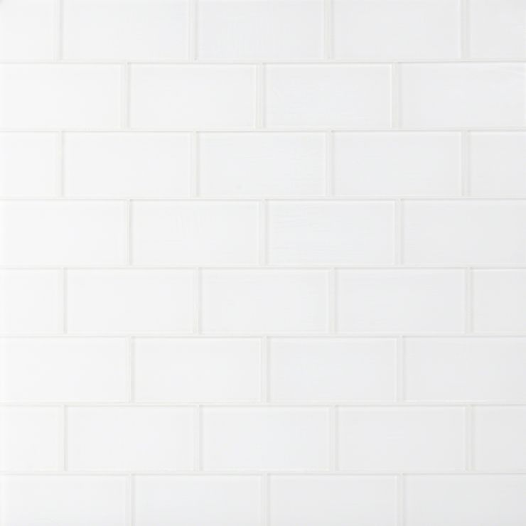 Loft Super White 3X6 Frosted; in Super White Glass; for Backsplash, Wall Tile, Bathroom Wall, Shower Wall, Outdoor Wall, Pool Tile; in Style Ideas Beach, Farmhouse, Traditional