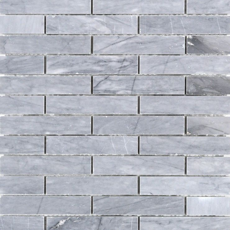 Halley Gray 1x4 Big Brick Mosaic; in Gray Halley Gray; for Backsplash, Floor Tile, Wall Tile, Bathroom Floor, Bathroom Wall, Shower Wall, Shower Floor, Outdoor Wall, Commercial Floor; in Style Ideas Art Deco, Craftsman, Modern, Traditional