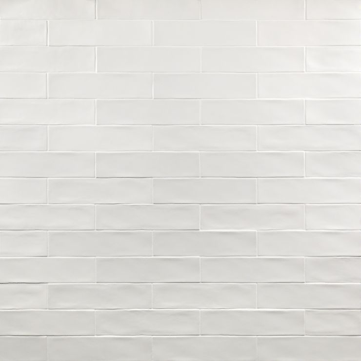 Bayou White 3X12 Matte; in White White Body Ceramic; for Backsplash, Wall Tile, Bathroom Wall, Shower Wall; in Style Ideas Beach, Classic, Farmhouse, Traditional