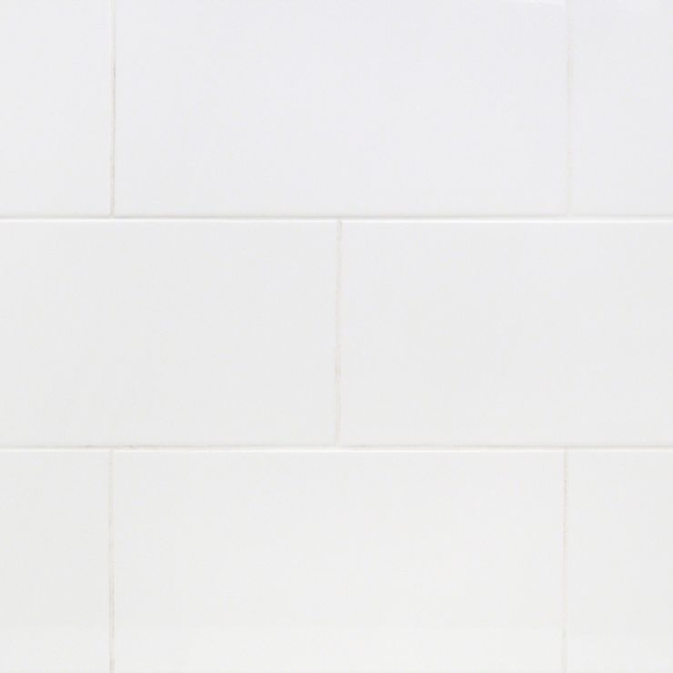 Basic White 8X16 Polished; in White Ceramic; for Backsplash, Wall Tile, Bathroom Wall, Shower Wall; in Style Ideas Beach, Classic, Craftsman, Cottage, Farmhouse, Mid Century, Modern, Traditional, Transitional
