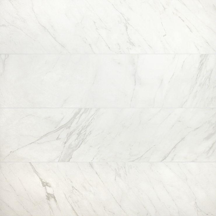 Belvedere Bianco 15X60; in White Porcelain; for Backsplash, Floor Tile, Wall Tile, Bathroom Floor, Bathroom Wall, Shower Wall, Outdoor Floor, Outdoor Wall, Commercial Floor; in Style Ideas Art Deco, Craftsman, Modern, Traditional