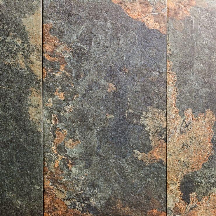 Litchfield Saffron 12X24; in Red, Orange, Dark Gray Porcelain; for Backsplash, Floor Tile, Wall Tile, Bathroom Floor, Bathroom Wall, Shower Wall, Outdoor Floor, Outdoor Wall, Commercial Floor; in Style Ideas Rustic, Transitional