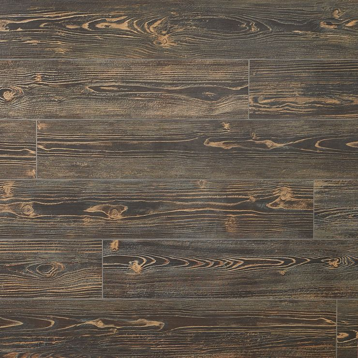 Tanglewood Brown 8x48 Matte Porcelain; in Brown Porcelain; for Backsplash, Floor Tile, Wall Tile, Bathroom Floor, Bathroom Wall, Shower Wall, Shower Floor, Outdoor Floor, Outdoor Wall, Commercial Floor; in Style Ideas Rustic, Craftsman, Farmhouse, Industrial, Traditional