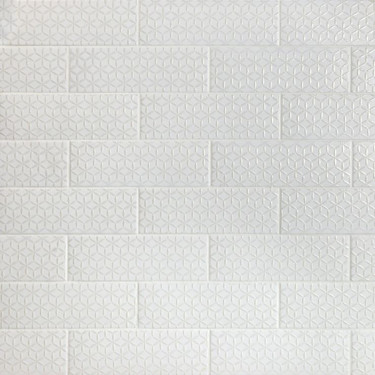 London Spring White 3X9 Ceramic; in White White Body Ceramic; for Backsplash, Kitchen Wall, Wall Tile, Bathroom Wall, Shower Wall; in Style Ideas Beach, Farmhouse, Industrial