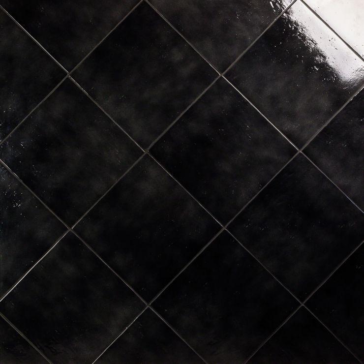 Cavallo Overcast 14X14; in Black Porcelain; for Backsplash, Floor Tile, Wall Tile, Bathroom Floor, Bathroom Wall, Shower Wall, Shower Floor, Outdoor Floor, Outdoor Wall, Commercial Floor, Pool Tile; in Style Ideas Rustic, Craftsman, Farmhouse, Industrial, Mid Century, Modern, Transitional