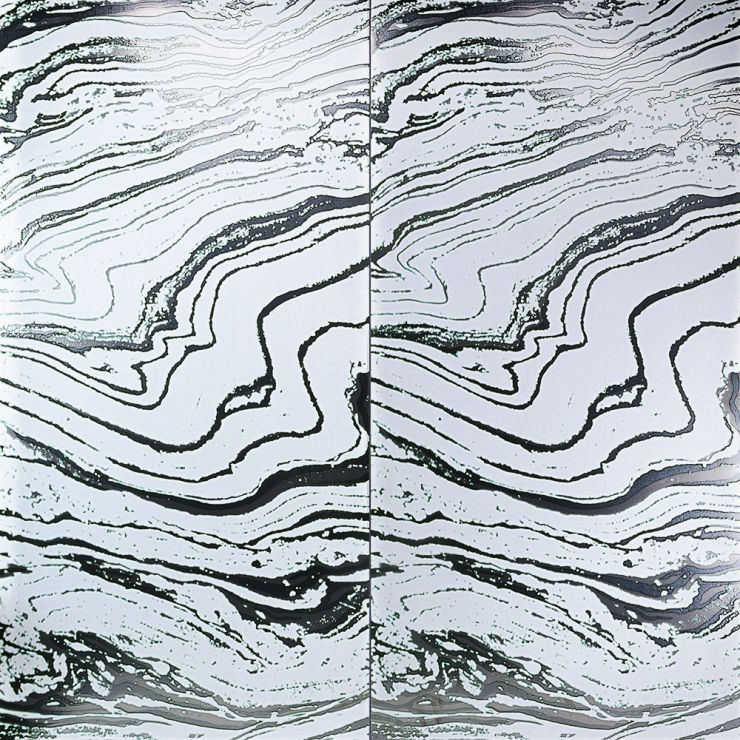 Boreal White 24x48 Artisan Decor Porcelain; in White & Black Porcelain; for Backsplash, Wall Tile, Bathroom Wall, Shower Wall, Outdoor Wall; in Style Ideas Art Deco, Contemporary, Whimsical