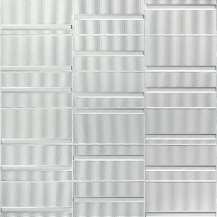 Vector Reverb Hueso 4X8; in White Ceramic; for Backsplash, Wall Tile, Bathroom Wall, Shower Wall; in Style Ideas Rustic, Craftsman, Cottage, Farmhouse, Industrial, Mid Century