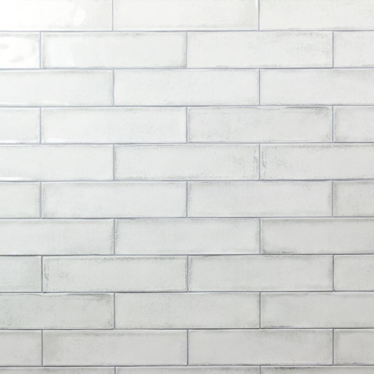 Castle Wind Chill 3X12; in White White Body Ceramic; for Backsplash, Wall Tile, Bathroom Wall, Shower Wall; in Style Ideas Beach, Farmhouse, Traditional