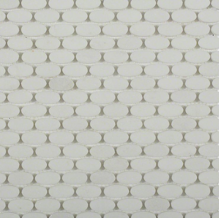 White Thassos 1x1 Mosaic; in White Thassos Thassos; for Backsplash, Floor Tile, Wall Tile, Bathroom Floor, Bathroom Wall, Shower Wall, Shower Floor, Outdoor Wall, Commercial Floor; in Style Ideas Art Deco, Classic, Contemporary, Modern, Traditional