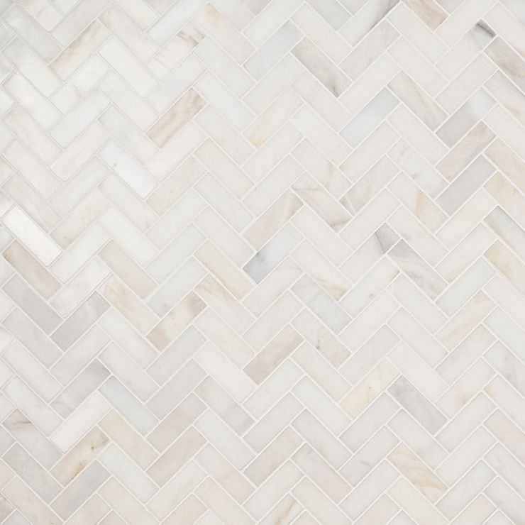 White Jade 1x3 Herringbone Polished Mosaic; in White  White Jade ; for Backsplash, Floor Tile, Wall Tile, Bathroom Floor, Bathroom Wall, Shower Wall, Outdoor Wall, Commercial Floor; in Style Ideas Modern