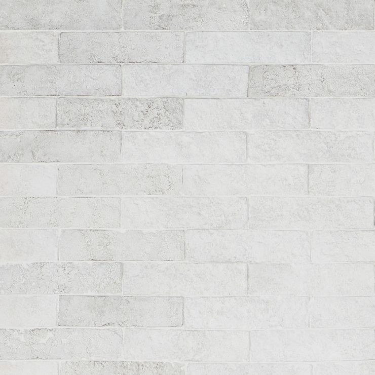 Easton Mesa Matte White 2X8; in White Clay Brick; for Backsplash, Wall Tile, Bathroom Wall, Shower Wall; in Style Ideas Craftsman, Cottage, Farmhouse, Industrial, Mid Century