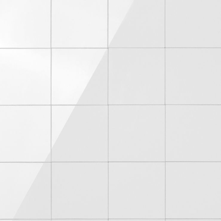 Pure White Square 6x6 Solid Core Peel & Stick Mosaic Tile; in White Solid Polymer Core (SPC); for Backsplash, Wall Tile, Bathroom Wall; in Style Ideas Beach, Cottage, Farmhouse, Transitional
