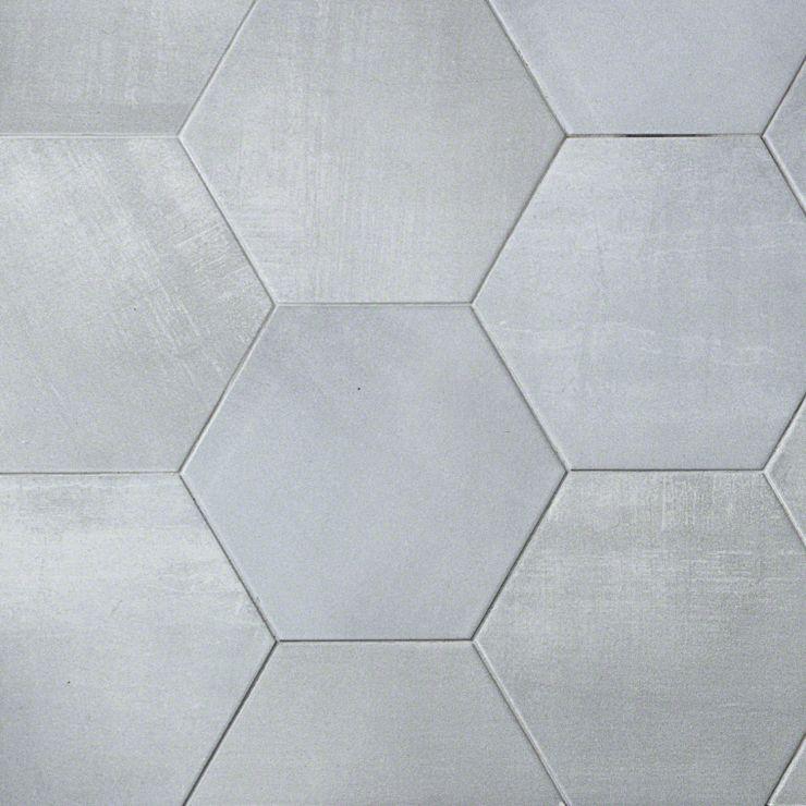 "Paige Avorio 10"" Hexagon; in Light Gray Porcelain; for Backsplash, Floor Tile, Wall Tile, Bathroom Floor, Bathroom Wall, Shower Wall, Shower Floor, Commercial Floor; in Style Ideas Craftsman, Industrial, Mid Century, Modern"