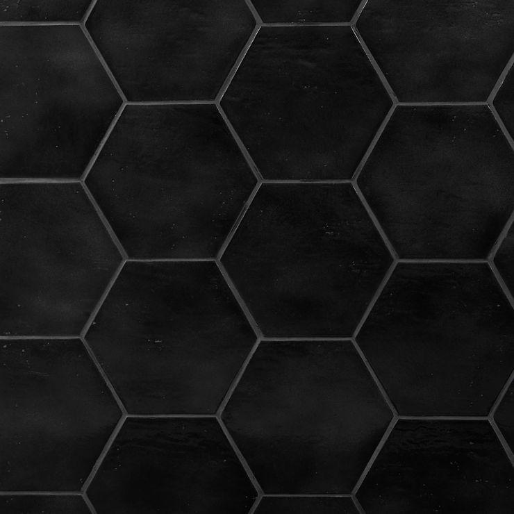 "Cavallo  Overcast 7"" ; in Black  Porcelain ; for Backsplash, Floor Tile, Wall Tile, Bathroom Floor, Bathroom Wall, Shower Wall, Shower Floor, Outdoor Floor, Outdoor Wall, Commercial Floor, Pool Tile; in Style Ideas Rustic, Craftsman, Farmhouse, Industrial, Mid Century, Modern, Transitional"