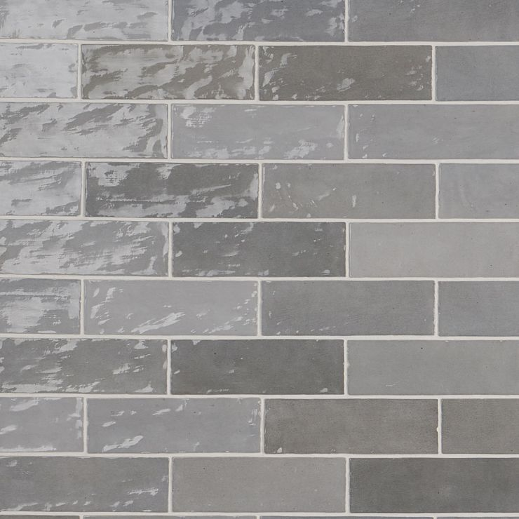 Portmore Gray 3x8 Glazed Ceramic Tile ; in Gray Ceramic; for Backsplash, Wall Tile, Bathroom Wall, Shower Wall, Outdoor Wall; in Style Ideas Beach, Craftsman, Contemporary, Farmhouse, Mediterranean, Traditional