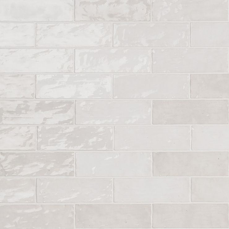 Portmore White 3x8 Glazed Ceramic Tile ; in White Ceramic; for Backsplash, Wall Tile, Bathroom Wall, Shower Wall, Outdoor Wall; in Style Ideas Beach, Craftsman, Contemporary, Cottage, Farmhouse, Mediterranean, Traditional