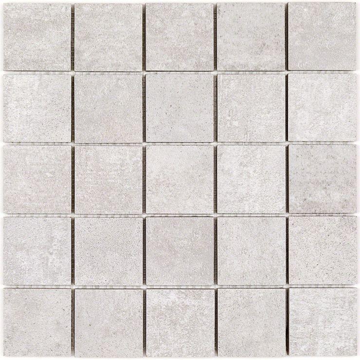 Marbella Perla 2x2 Mosaic; in Pearl Porcelain; for Backsplash, Floor Tile, Wall Tile, Bathroom Floor, Bathroom Wall, Shower Wall, Shower Floor, Outdoor Floor, Outdoor Wall, Commercial Floor; in Style Ideas Rustic, Craftsman, Industrial, Modern, Transitional