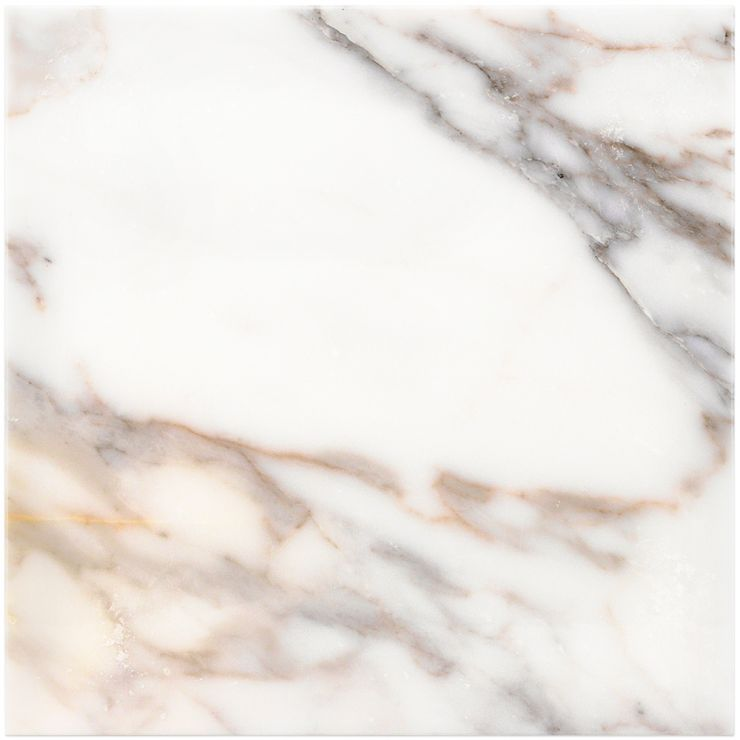 Calacatta Gold 12X12 Polished ; in White w/ Gray & Gold Veins Calacatta; for Backsplash, Floor Tile, Wall Tile, Bathroom Floor, Bathroom Wall, Shower Wall, Shower Floor, Outdoor Wall, Commercial Floor; in Style Ideas Art Deco, Classic, Modern, Traditional