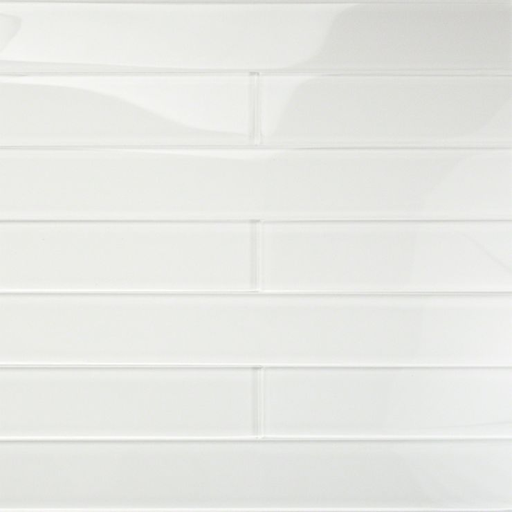 Loft Horizon Super White 2X16 Polished; in White Glass; for Backsplash, Wall Tile, Bathroom Wall, Shower Wall, Outdoor Wall, Pool Tile; in Style Ideas Craftsman, Cottage, Farmhouse, Mid Century, Modern