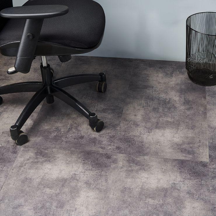 Katone Concreto Steel 18x36 Glue Down Luxury Vinyl Flooring; in Gray Luxury Vinyl; for Floor Tile, Bathroom Floor, Commercial Floor; in Style Ideas Industrial, Modern, Traditional