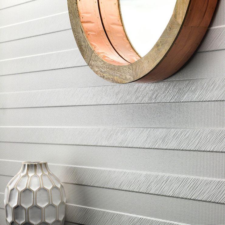 Klondike Yukon 3D Blanco 16x48; in White White Body Ceramic; for Backsplash, Wall Tile, Bathroom Wall, Shower Wall; in Style Ideas Craftsman, Cottage, Farmhouse, Mid Century, Modern