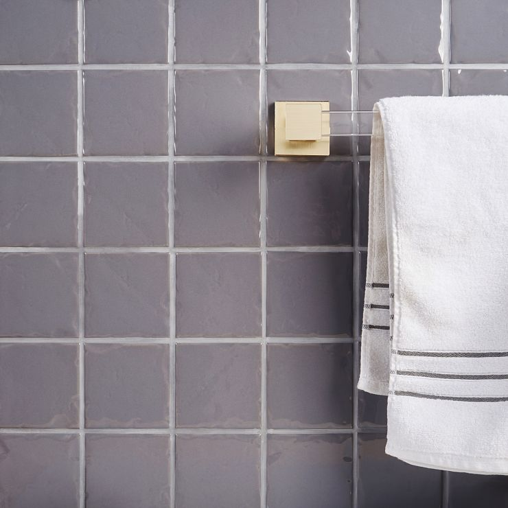 StratoSquare Dark Gray 4x4 Ceramic Dark Gray 4X4 ; in Dark Gray  Ceramic; for Backsplash, Wall Tile, Bathroom Wall, Shower Wall, Outdoor Wall; in Style Ideas Craftsman, Farmhouse