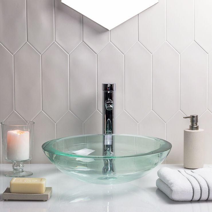 Aliante White 4X12 Porcelain Tile; in White Porcelain; for Backsplash, Floor Tile, Wall Tile, Bathroom Floor, Bathroom Wall, Shower Wall, Outdoor Wall, Commercial Floor; in Style Ideas Classic, Farmhouse, Mid Century