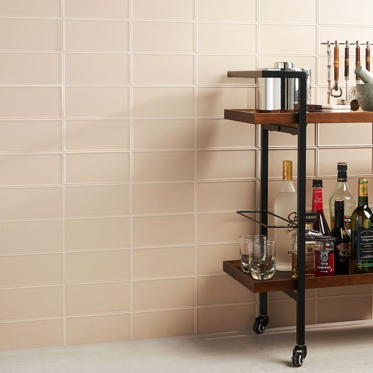 Stacy Garcia Maddox Frame Wheat 4X8; in Wheat Ceramic ; for Backsplash, Wall Tile, Bathroom Wall, Shower Wall, Outdoor Wall; in Style Ideas Farmhouse, Modern, Transitional