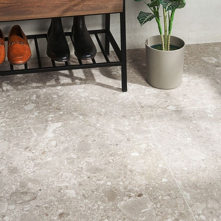 Rizo 2.0 Taupe Matte 24x24 Porcelain; in Taupe Porcelain; for Backsplash, Floor Tile, Wall Tile, Bathroom Floor, Bathroom Wall, Shower Wall, Outdoor Floor, Outdoor Wall, Commercial Floor; in Style Ideas Rustic, Classic, Craftsman, Industrial