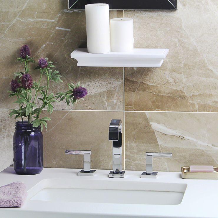 Kashmir Taupe 15x30 Polished Porcelain Taupe 15X30; in Beige Porcelain; for Backsplash, Floor Tile, Wall Tile, Bathroom Floor, Bathroom Wall, Shower Wall, Outdoor Wall, Commercial Floor; in Style Ideas Art Deco, Modern