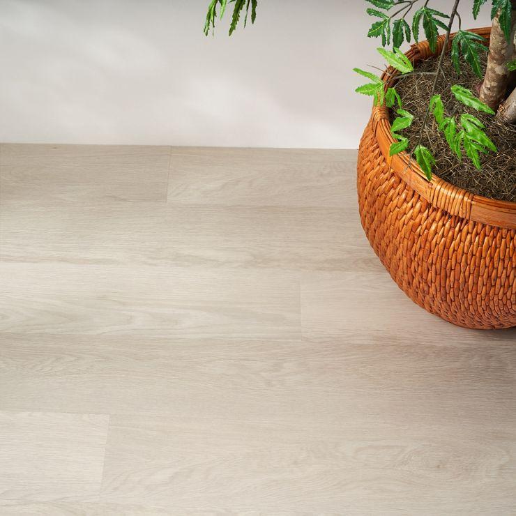 Katone Oak White 6x48 Glue Down Luxury Vinyl Flooring; in White Luxury Vinyl; for Floor Tile, Bathroom Floor, Commercial Floor; in Style Ideas Art Deco, Mid Century, Modern