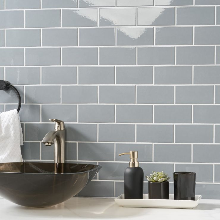 Park Hill Gray 3x6 Polished Porcelain Tile; in Gray Porcelain; for Backsplash, Wall Tile, Bathroom Wall, Shower Wall, Outdoor Wall, Pool Tile; in Style Ideas Classic, Cottage, Farmhouse, Traditional; released 2021; new, trends