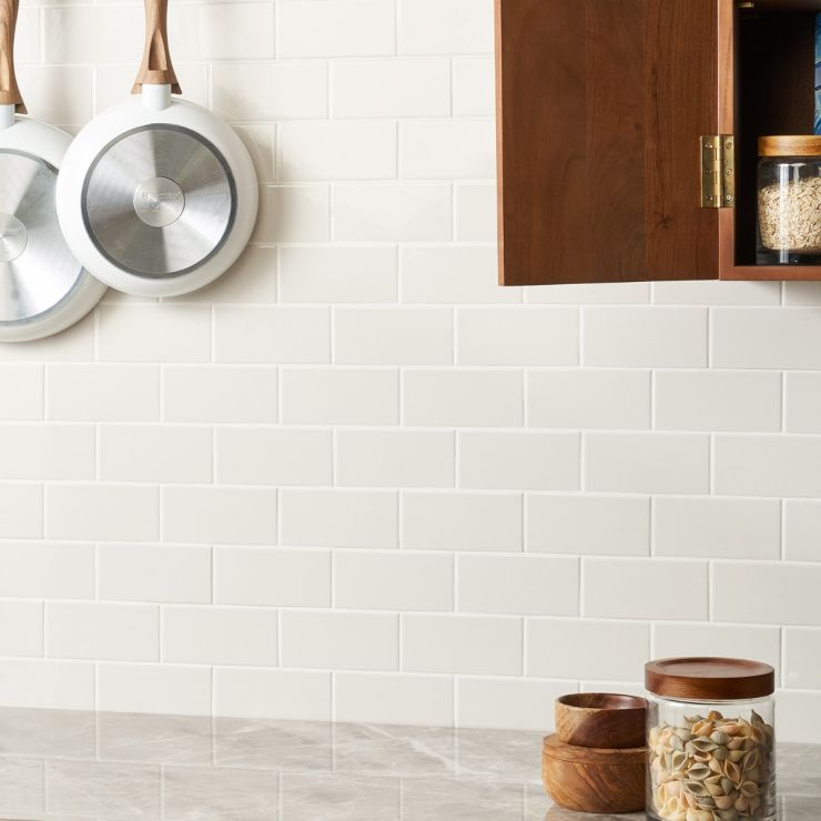Park Hill Monumental Mist 3X6 Polished Porcelain Tile; in Natural White Porcelain; for Backsplash, Wall Tile, Bathroom Wall, Shower Wall, Outdoor Wall, Pool Tile; in Style Ideas Classic, Cottage, Farmhouse, Traditional; released 2021; new, trends