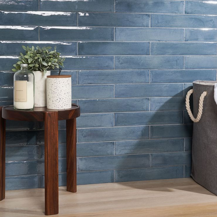 Paint Blu Notte 3x16 Polished Porcelain Tile; in Blue Porcelain; for Backsplash, Wall Tile, Bathroom Wall, Shower Wall, Outdoor Wall; in Style Ideas Classic, Craftsman, Contemporary, Farmhouse, Mediterranean, Traditional; released 2021; new, trends