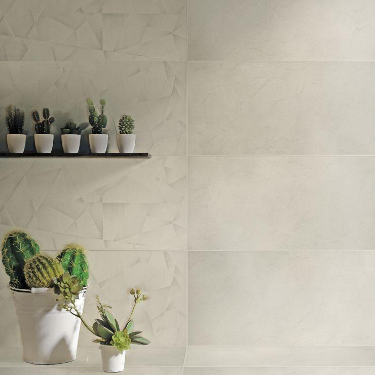 Decorigami  Quarzo 16 X 32; in Light Beige Porcelain ; for Backsplash, Floor Tile, Wall Tile, Bathroom Floor, Bathroom Wall, Shower Wall, Outdoor Wall, Commercial Floor; in Style Ideas Art Deco, Beach, Modern, Tropical, Whimsical