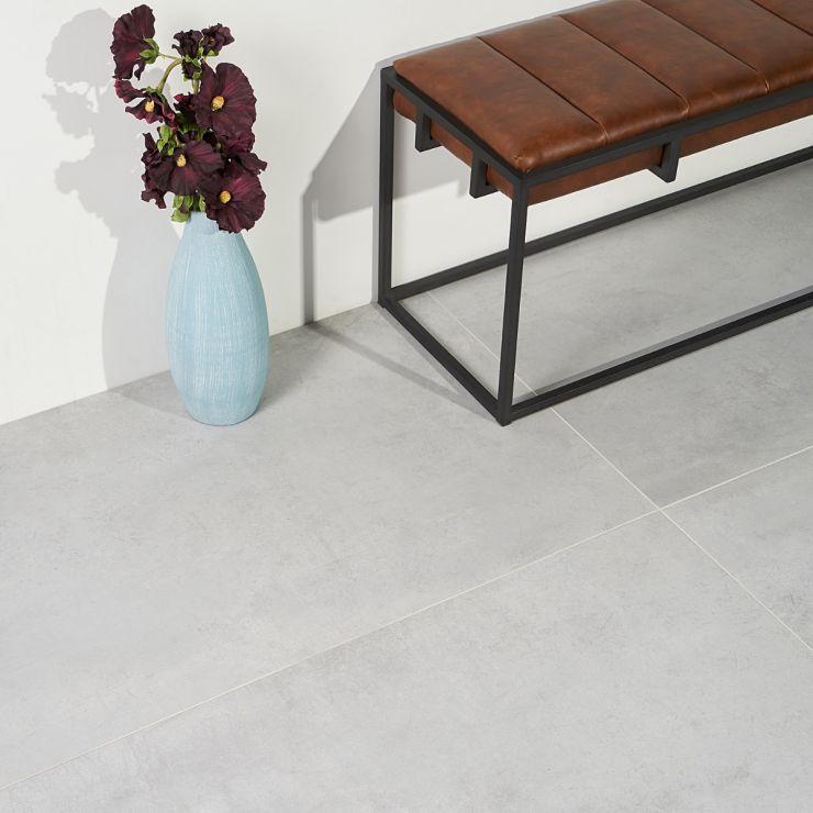 Bond Nimbus 24x48 Matte Porcelain Tile ; in Gray Porcelain; for Backsplash, Floor Tile, Wall Tile, Bathroom Floor, Bathroom Wall, Shower Wall, Shower Floor, Outdoor Floor, Outdoor Wall, Commercial Floor; in Style Ideas Industrial, Mid Century