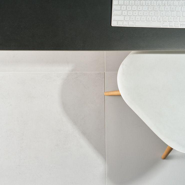 Bond Palladium 24x48 Matte Porcelain Tile ; in White + Light Gray Porcelain; for Backsplash, Floor Tile, Wall Tile, Bathroom Floor, Bathroom Wall, Shower Wall, Shower Floor, Outdoor Floor, Outdoor Wall, Commercial Floor; in Style Ideas Contemporary, Mid Century, Modern, Traditional