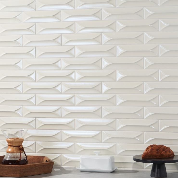 Byzantine Naturalis 3D 2x9 Ceramic; in Ceramic; for Backsplash, Wall Tile, Bathroom Wall, Shower Wall; in Style Ideas Beach, Contemporary, Whimsical