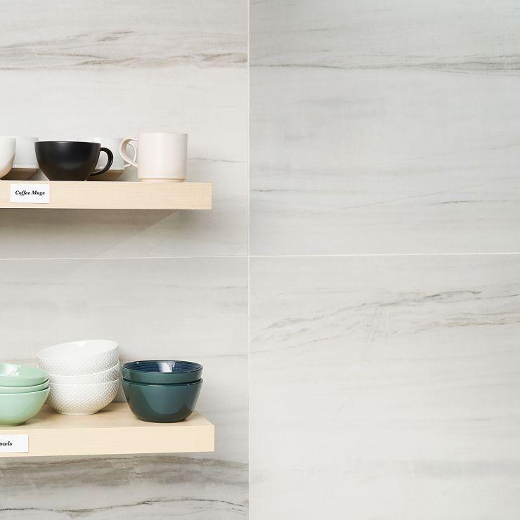 Basic Marble Lasa 24x48 Satin ; in Gray Porcelain ; for Backsplash, Floor Tile, Wall Tile, Bathroom Floor, Bathroom Wall, Shower Wall, Outdoor Floor, Outdoor Wall, Commercial Floor; in Style Ideas Art Deco, Classic, Modern, Traditional