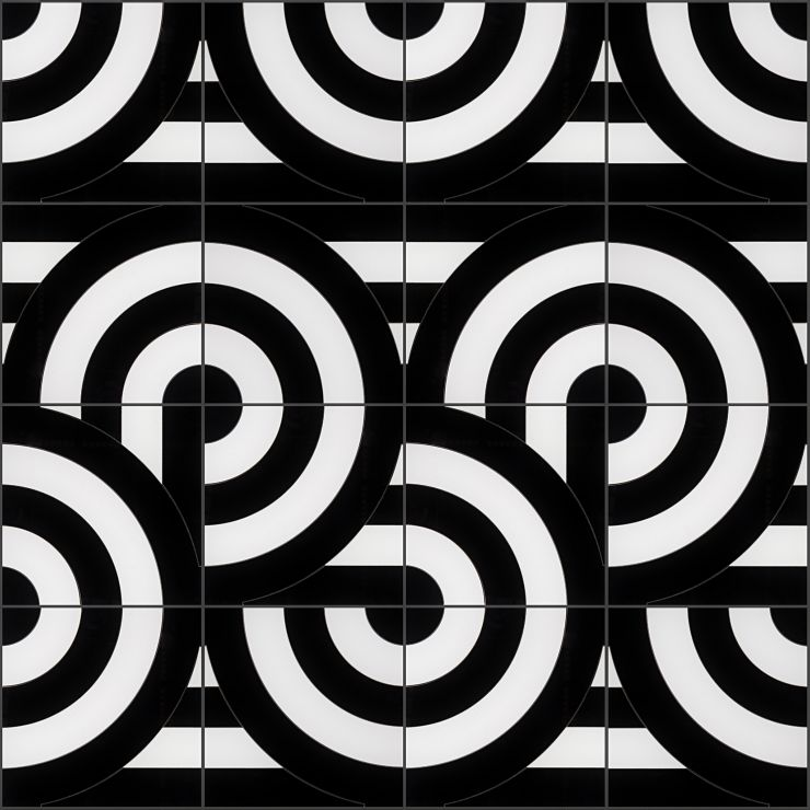 Arc Viva By Elizabeth Sutton 12X12 Polished Porcelain: Pattern 23 Mosaic; in Multicolor Porcelain; for Backsplash, Floor Tile, Wall Tile, Bathroom Floor, Bathroom Wall, Shower Wall, Outdoor Wall, Commercial Floor; in Style Ideas Art Deco, Mid Century