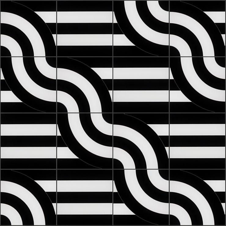 Arc Viva By Elizabeth Sutton 12X12 Polished Porcelain: Pattern 7 Mosaic; in Multicolor Porcelain; for Backsplash, Floor Tile, Wall Tile, Bathroom Floor, Bathroom Wall, Shower Wall, Outdoor Wall, Commercial Floor; in Style Ideas Art Deco, Mid Century