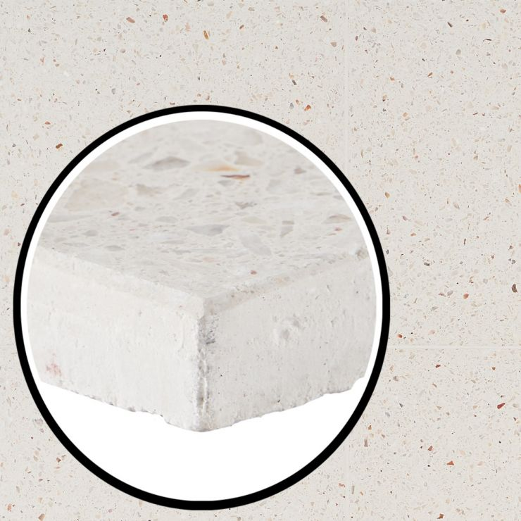 True Terrazzo Kashmir 16x16 Polished; in Terrazzo; for Backsplash, Floor Tile, Wall Tile, Bathroom Floor, Bathroom Wall, Shower Wall, Outdoor Floor, Outdoor Wall, Commercial Floor; in Style Ideas Rustic, Classic, Craftsman, Industrial, Mid Century, Modern