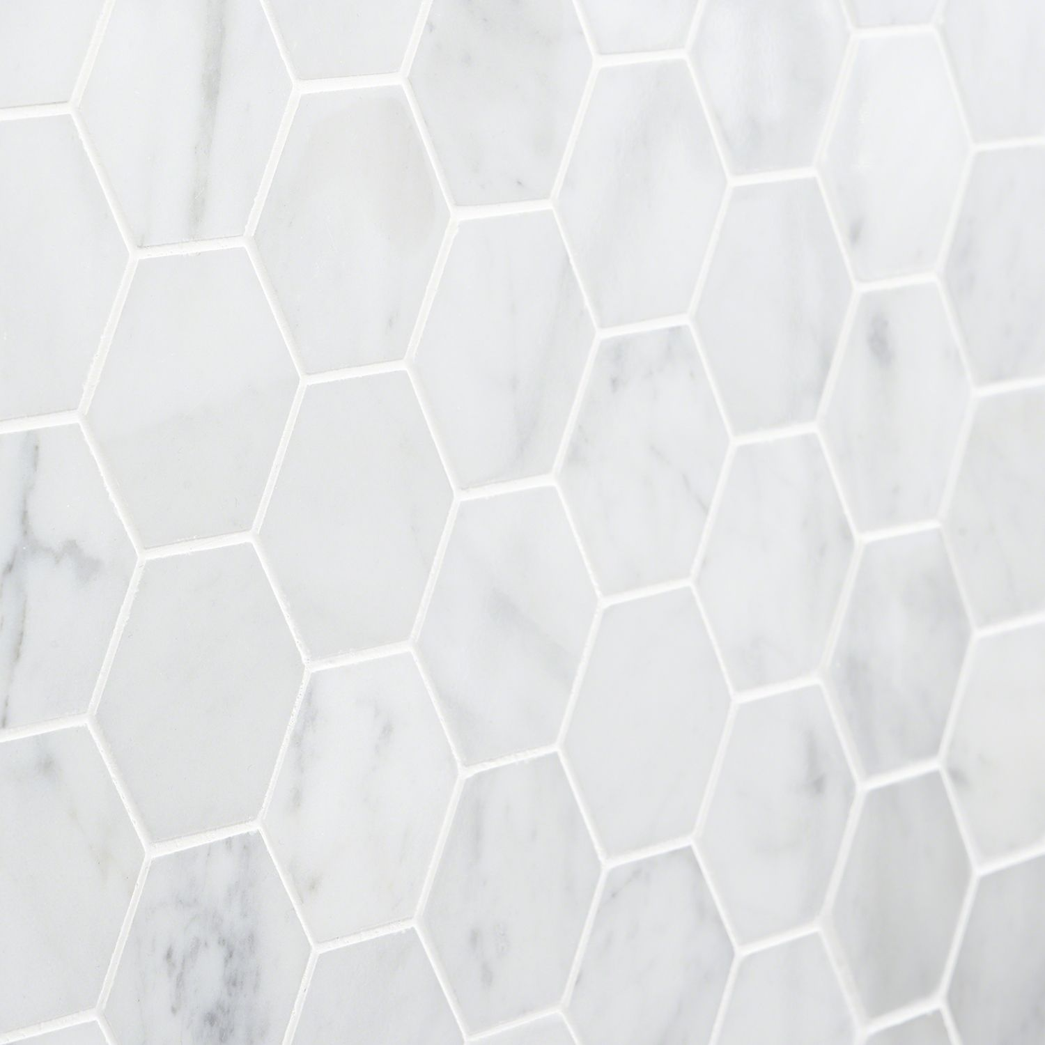 Carrara Marble Mosaic Tile 2 White Hexagon Tilebar Com
