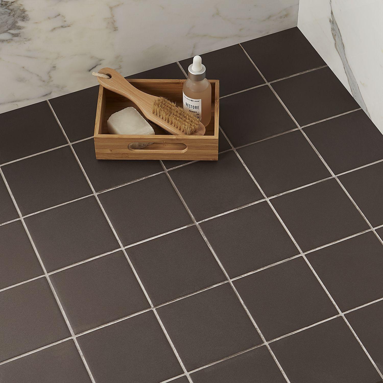 Colorone Bruno 4x4 Matte Porcelain Tile, Porcelain Tile Bathroom Floor Ideas