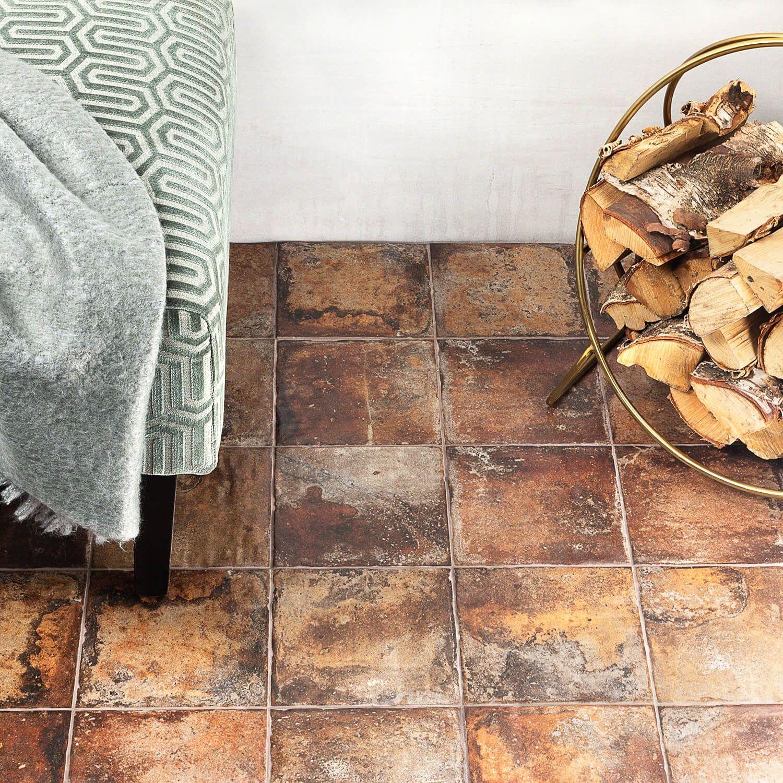 Angela Harris Dunmore Cotto 8x8 Porcelain Floor Tile Tilebar Com