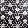 Wildflower Black Horizon Marble Tile