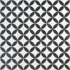 Norwalk Floor Deco Black and White 8x8 Matte Porcelain Tile
